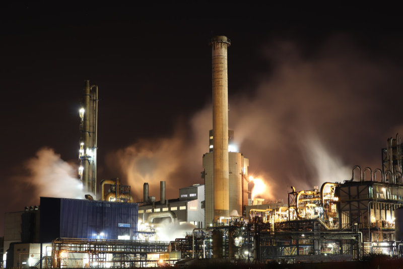 process plant at night